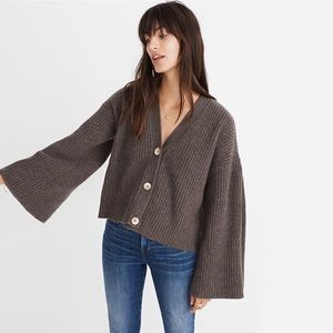 Madewell Wide - Sleeve Crop Cardigan Sweater L NWT